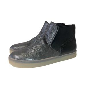 Sam Edelman Metallic High Top Shoes Size 9
